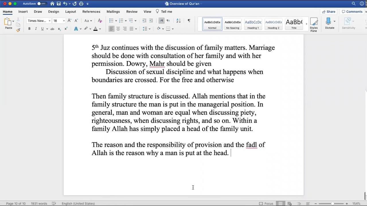 Sh. Zubair || Quranic Overview (Juz 5)