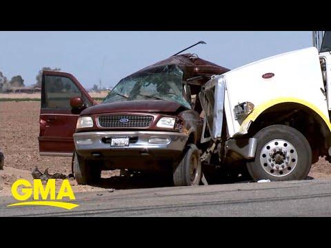 13 killed in California highway collision l GMA - Good Morning America