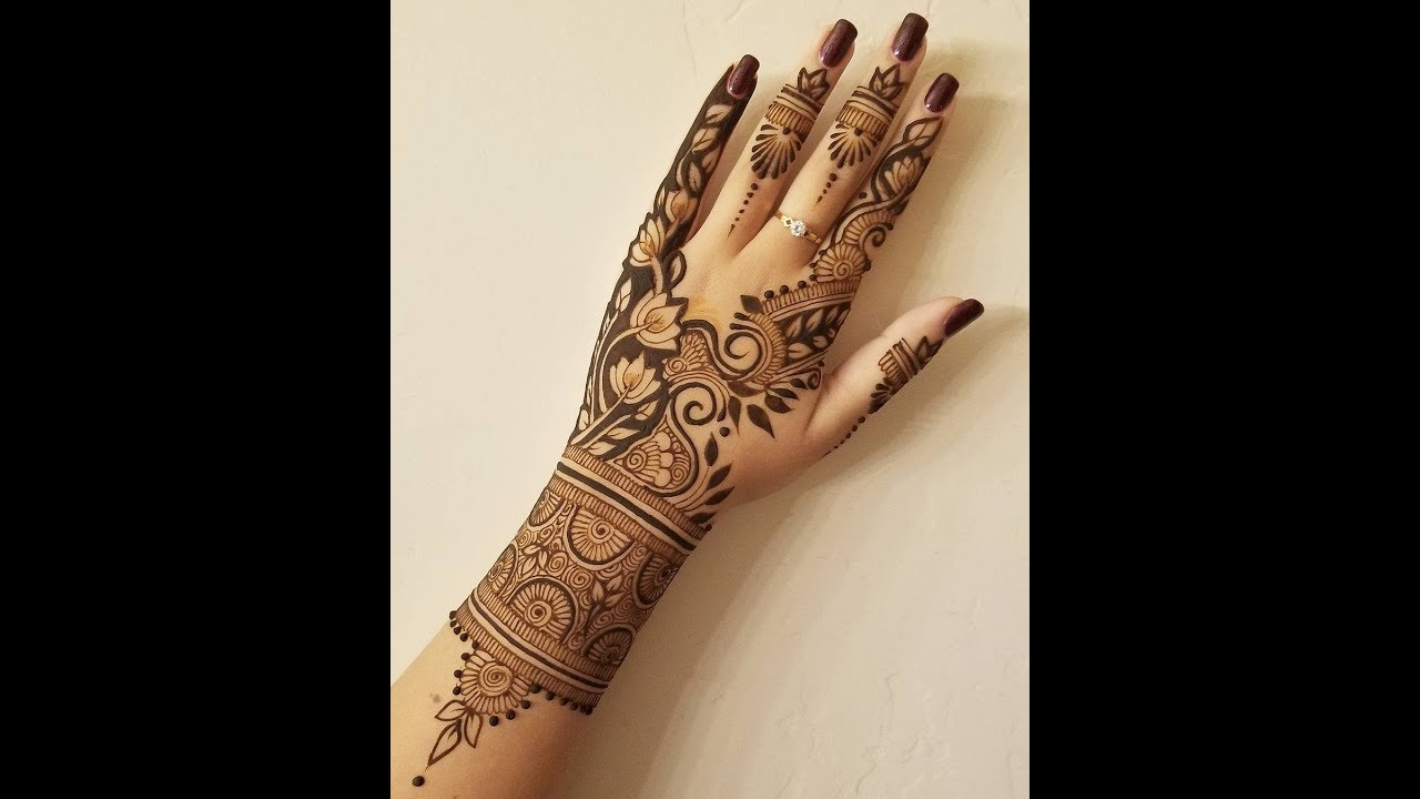 Simple Elegant Henna Design Youtube