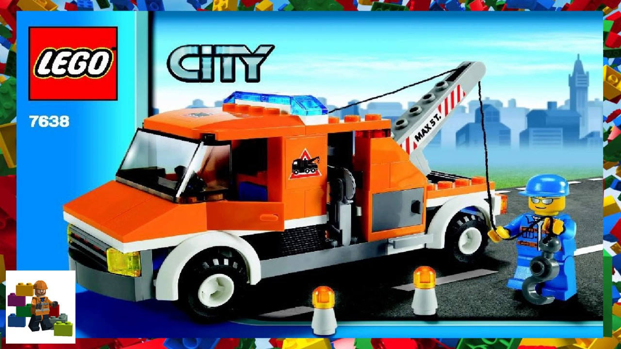 Lego Instructions City Traffic 7638 Tow Truck Youtube
