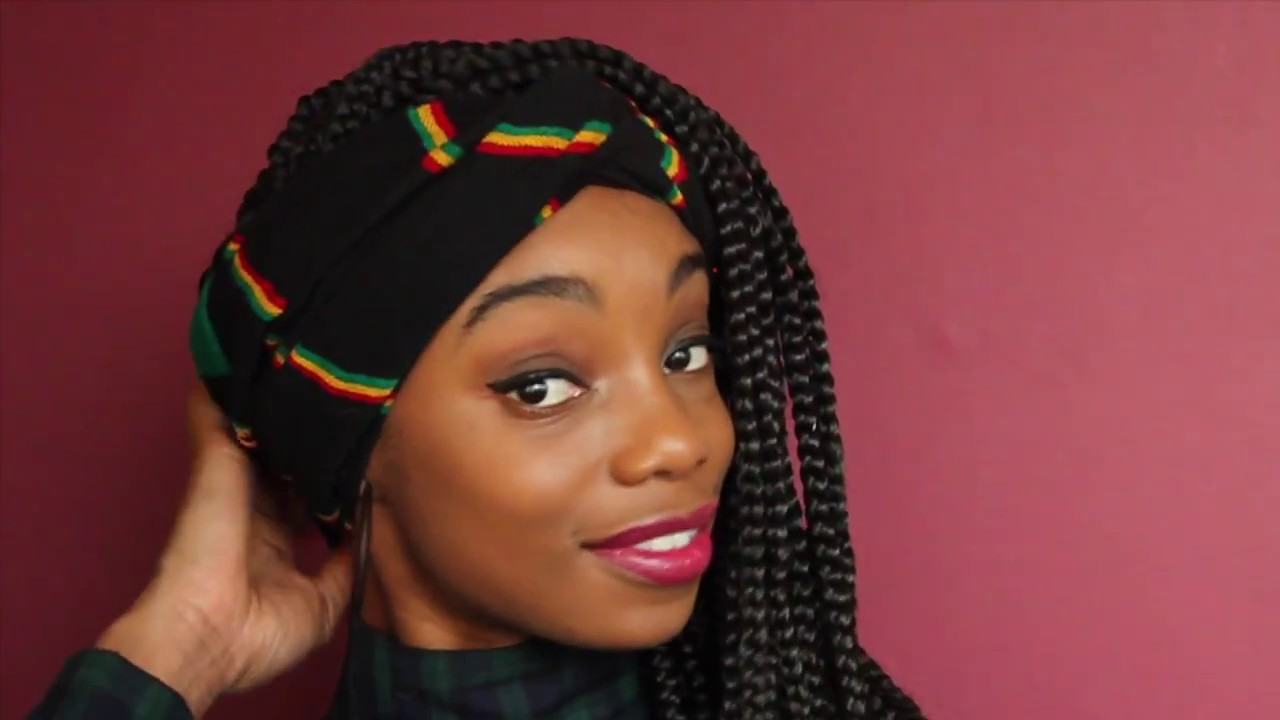 Hair Styles For Braids Pictures: HEADWRAP STYLES For BOX BRAIDS