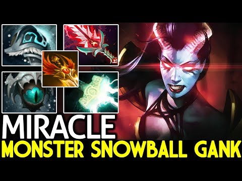 Miracle- [Queen of Pain] Monster Snowball Ganking Cancer Gameplay 7.21 Dota 2