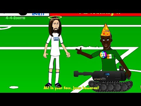 🇧🇷SAMARAS PENALTY 🇬🇷Greece vs Ivory Coast 2-1 442oons (World Cup 2014 cartoon 24.6.14)