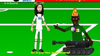 🇧🇷SAMARAS PENALTY 🇬🇷Greece vs Ivory Coast 2-1 442oons (World Cup 2014 cartoon 24.6.14)