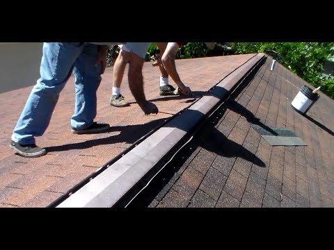 Asphalt Shingle Roofing Aluminum Ridgevent Replace Youtube