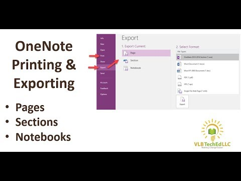 OneNote Printing and Exporting