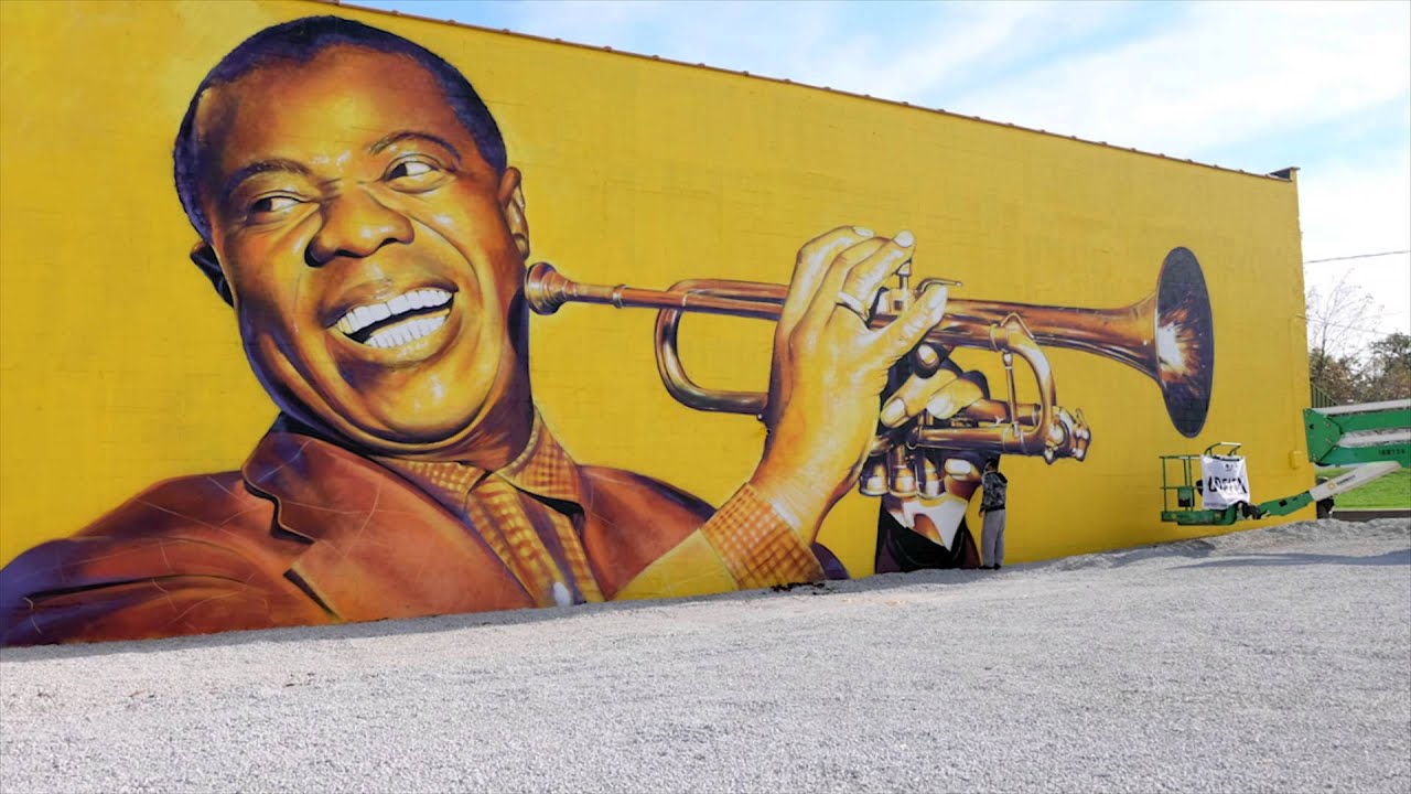 Louis Armstrong Mural tribute - Lexington, KY - YouTube