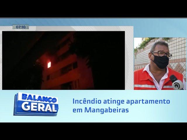 Fogo na madrugada: Incêndio atinge apartamento em Mangabeiras