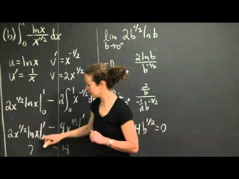 Improper Integrals | MIT 18.01SC Single Variable Calculus, Fall 2010