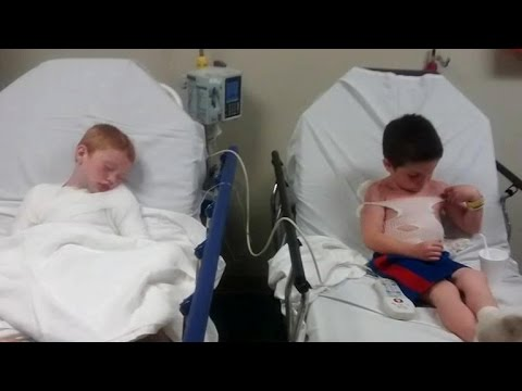Extreme sunburn at daycare lands boys in the hospital