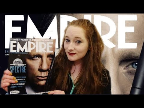 *ASMR* Soft-Spoken Leafing through Empire Magazine! (March 2015) | Amy McLean