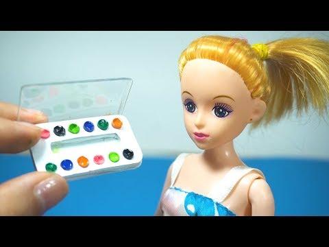 DIY miniature Doll crafts School Supplies Paints