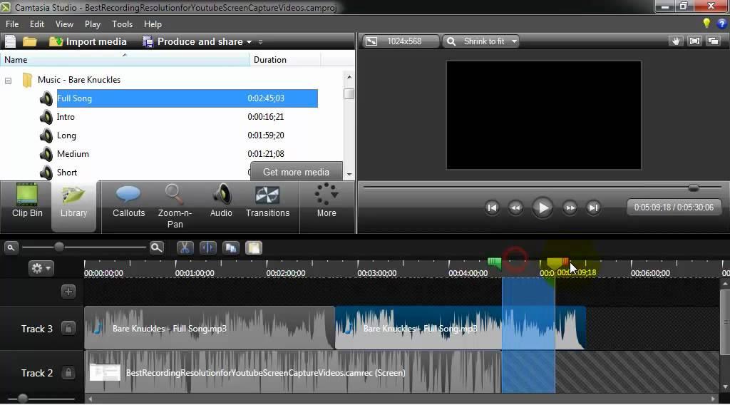Add Music to a Camtasia Studio 8 Video - YouTube