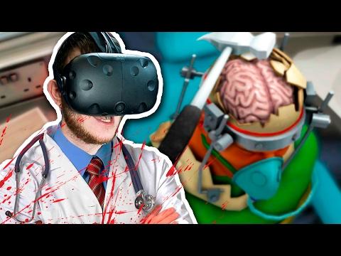 ОПЕРАЦИЯ НА МОЗГ БЕЗ СВЕТА! | Часть 2 | Surgeon Simulator (HTC Vive)
