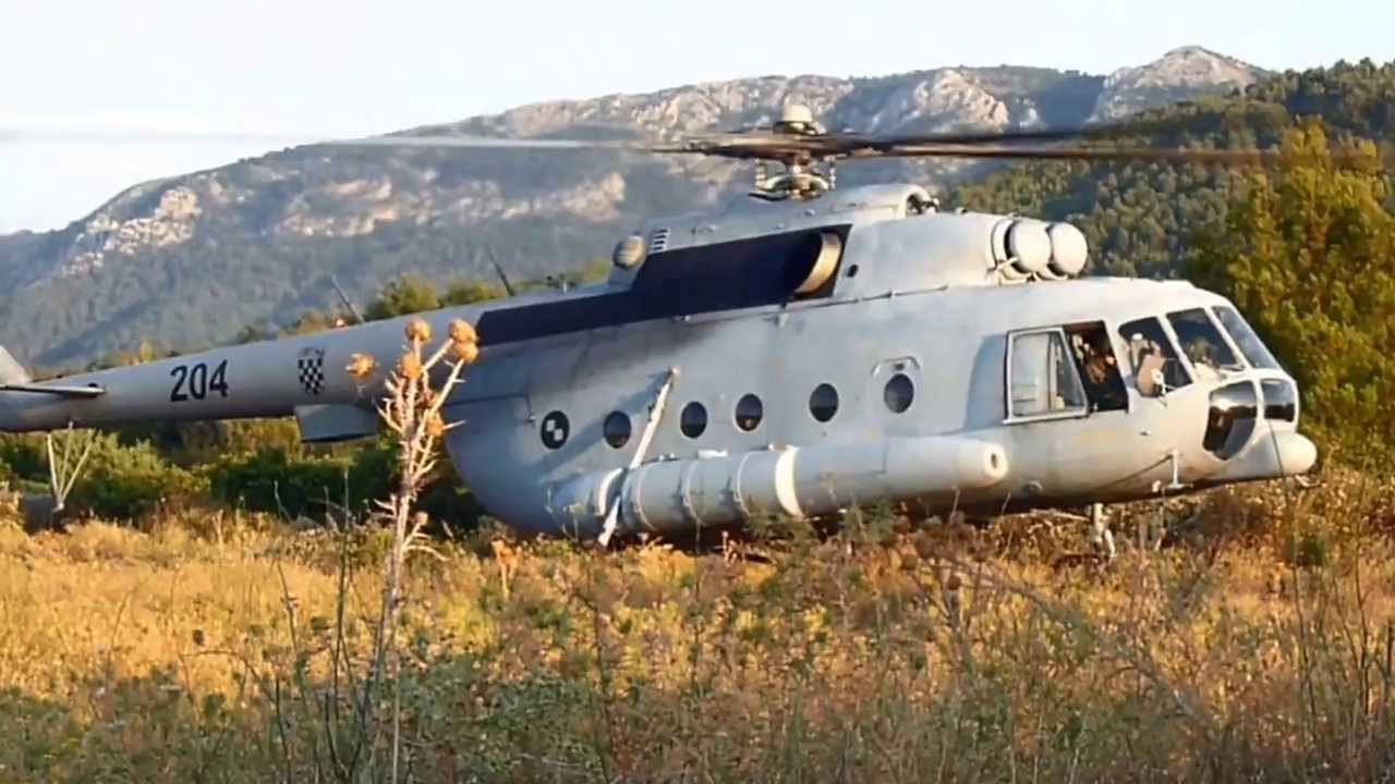 Mil Mi-8 MTV-1 Croatia...C 17 Takeoff Video
