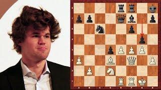 Amazing Chess Game : Magnus Carlsen vs Nigel Short – Essent 2004 – Queen's Gambit Declined (D37)