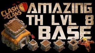 Clash Of Clans Amazing Th Lvl 8 Base Setup!