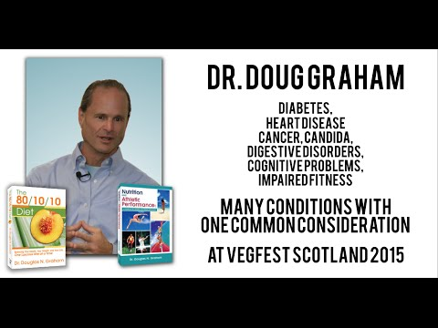 "Dr. Doug Graham speaks on ""Many conditions with one common consideration"" at Vegfest Scotland"