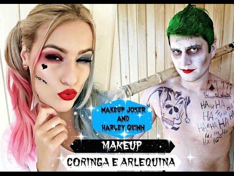 13ebfb9ba Смотреть видео Maquiagem Coringa e Arlequina MakeUp Joker and Harley Quinn  Suicide Squad By Luana Patricio онлайн