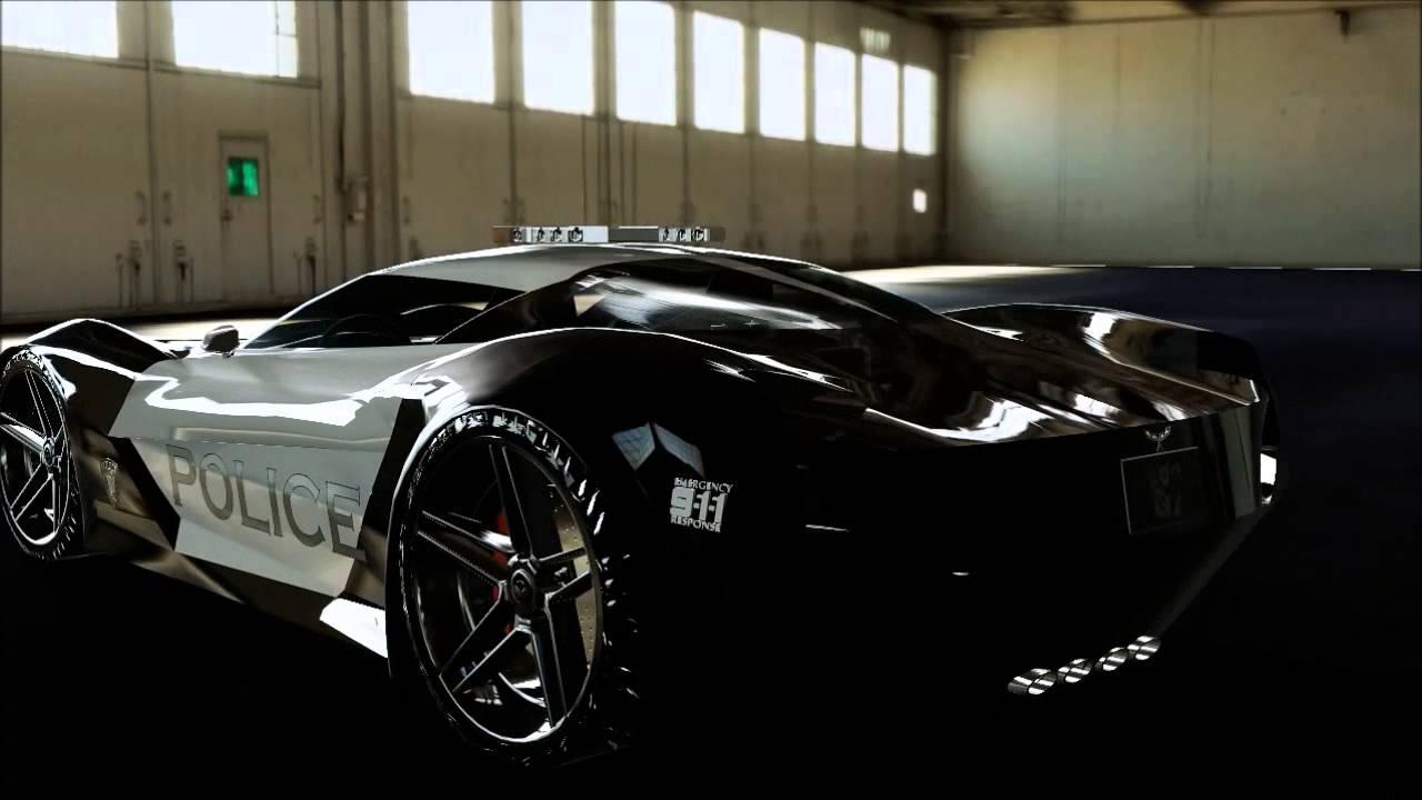Stingray Concept Police Car 3d Model Youtube