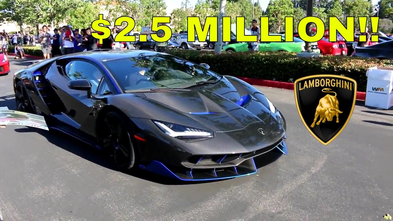 The First Usa Lamborghini Centenario Youtube