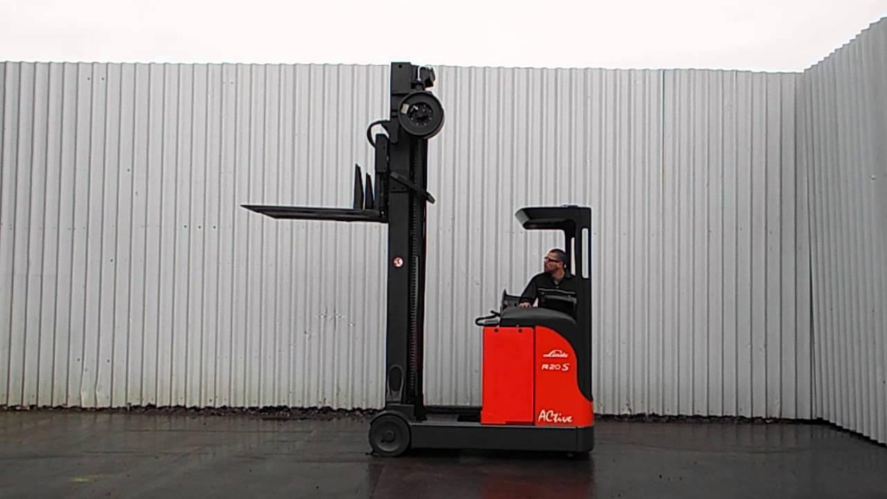 linde r20 03 kooi forks used forklift reach truck