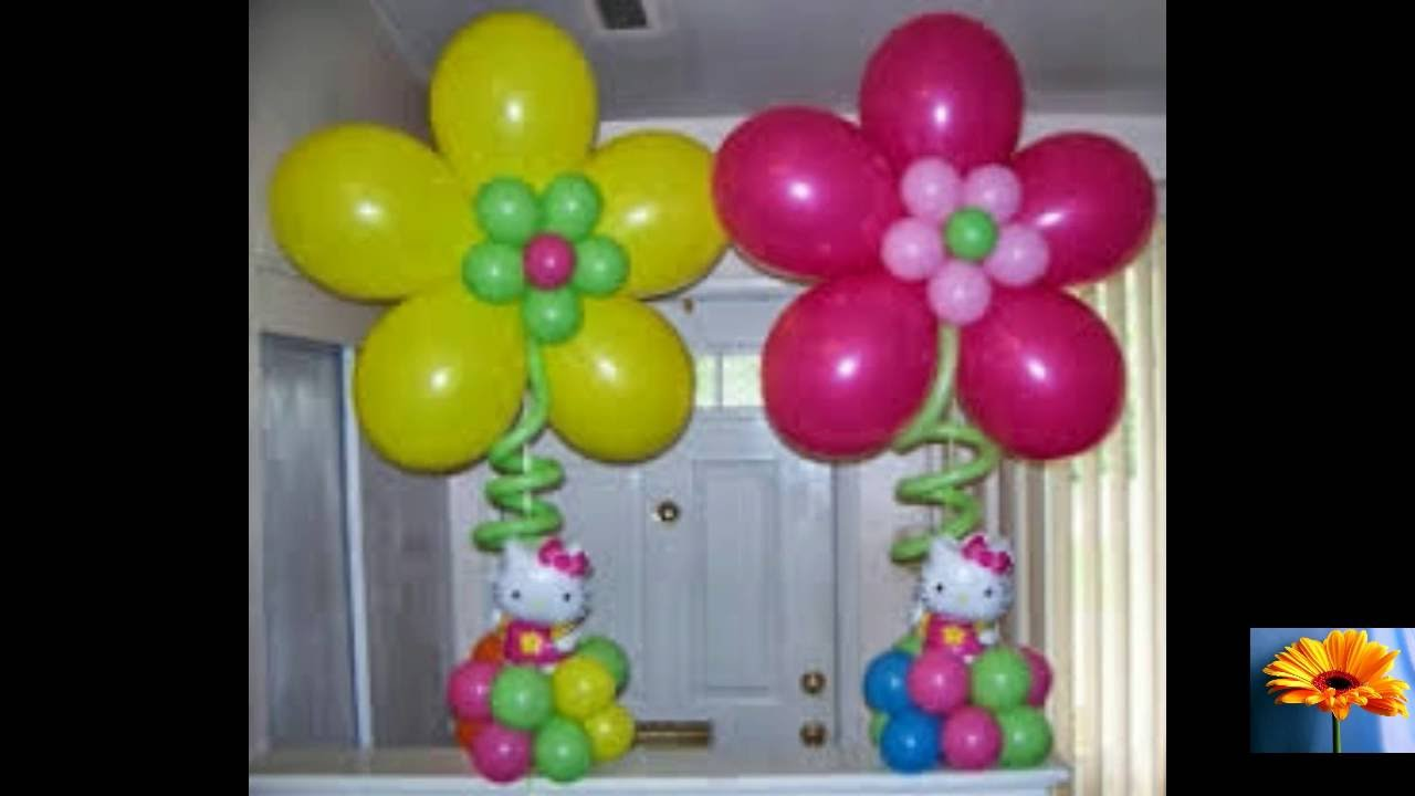 decoracion de fiesta de hello kitty de 50 ideas youtube