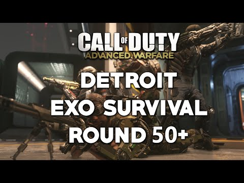 Call of Duty: Advanced Warfare Detroit Exo Survival Wave 50+ Gameplay Strategy