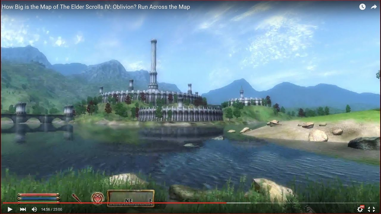 The Elder Scrolls IV: Oblivion - Run Across the Map - How ... on rage map size, gta map size, fallout new vegas map size, morrowind map size, terraria map size, l.a. noire map size, simcity map size, guild wars 2 map size, just cause 2 map size, tomb raider map size, wow map size, skyrim map size, minecraft map size, mmo map size, game map size, assassin's creed map size, borderlands map size, oblivion map size, red dead redemption map size, daggerfall map size,