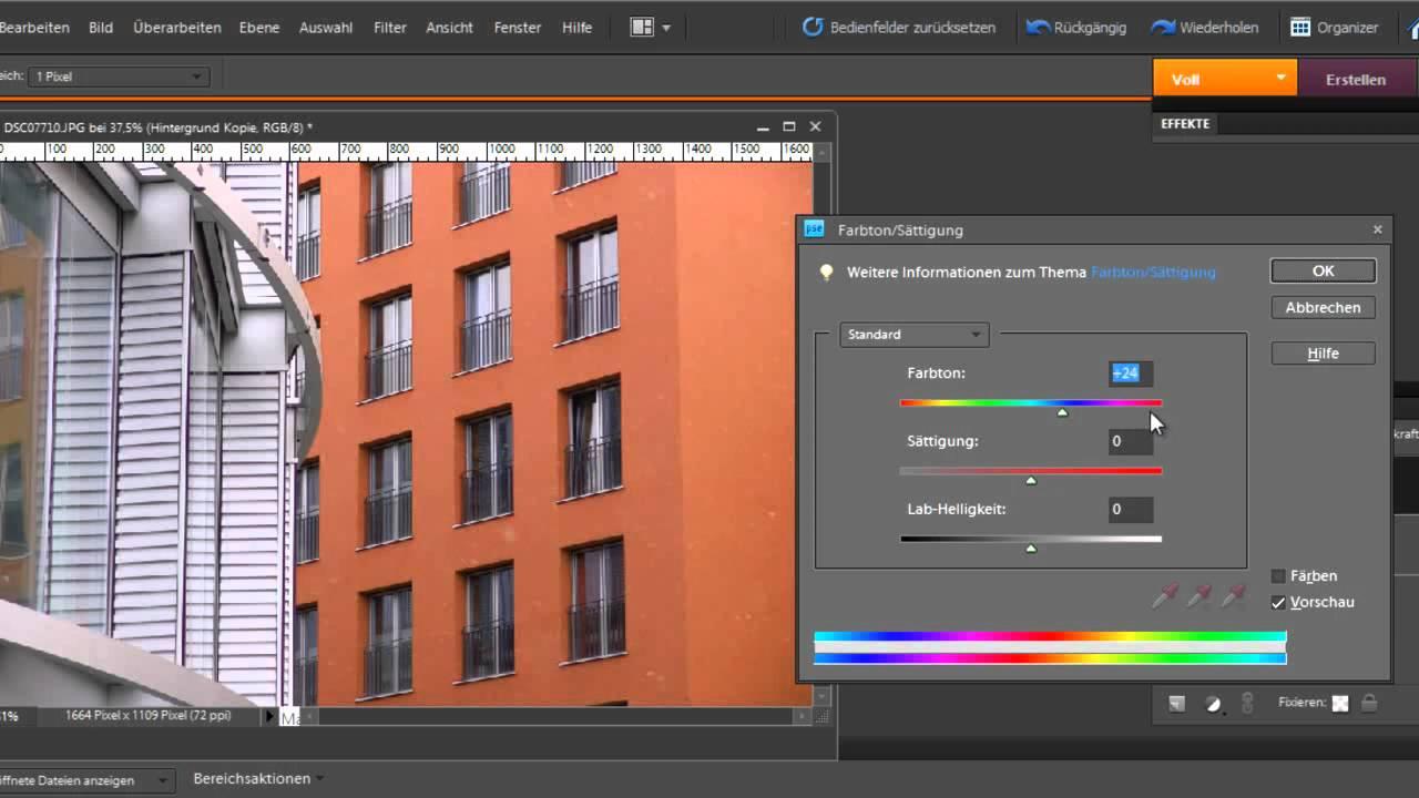 Photoshop Elements - Neue Farbe für Ihr Haus - YouTube