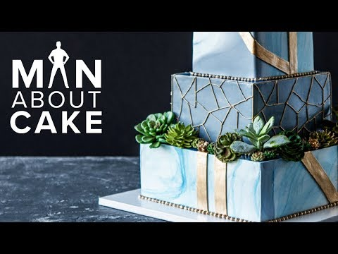Succulent Wedding Cake FOR JAMES! | Man About Cake with Joshua John Russell