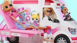 Barbie Doctor Family Once Upon a Holiday Story with Goldie & LOL Surprise