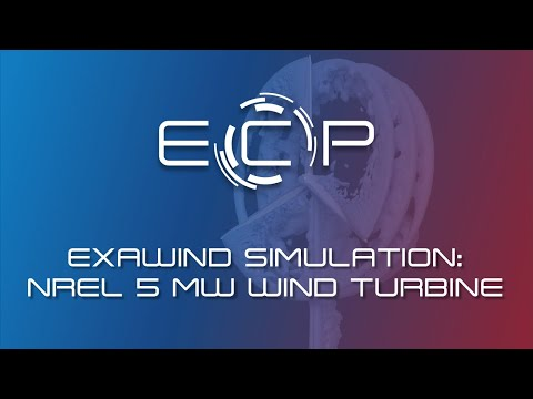 ExaWind Project Demonstrates Blade-Resolved Simulation of the NREL 5
