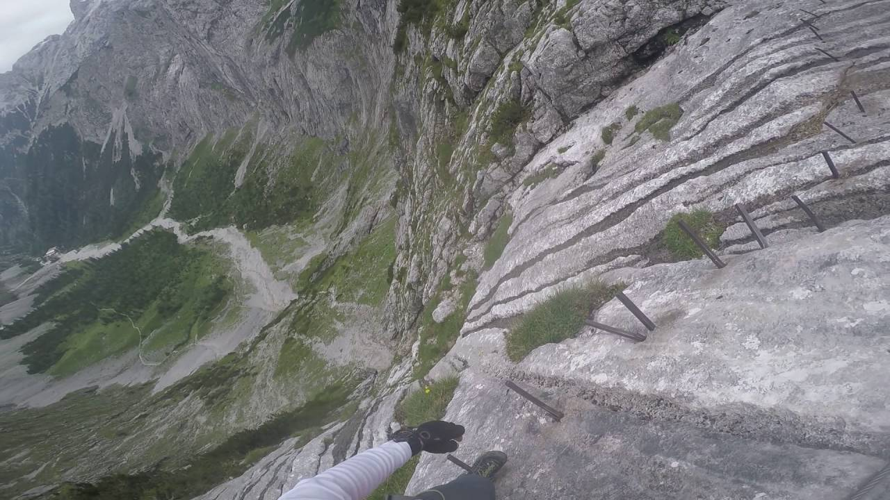 Klettersteig Höllental : Höllental klettersteig brett youtube