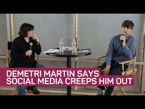 Comedian Demetri Martin says social media creeps him out