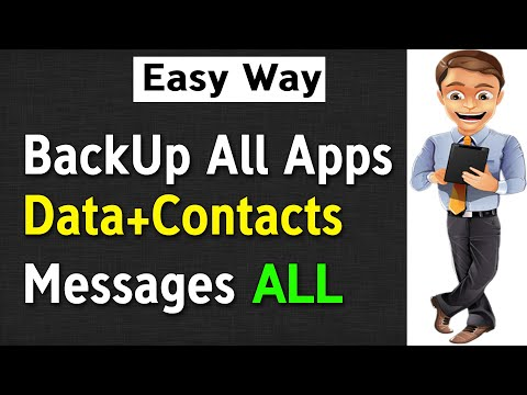 How To BACKUP All Apps And DATA In Any Android Without Root | Backup All Apps, Contacts, All Data