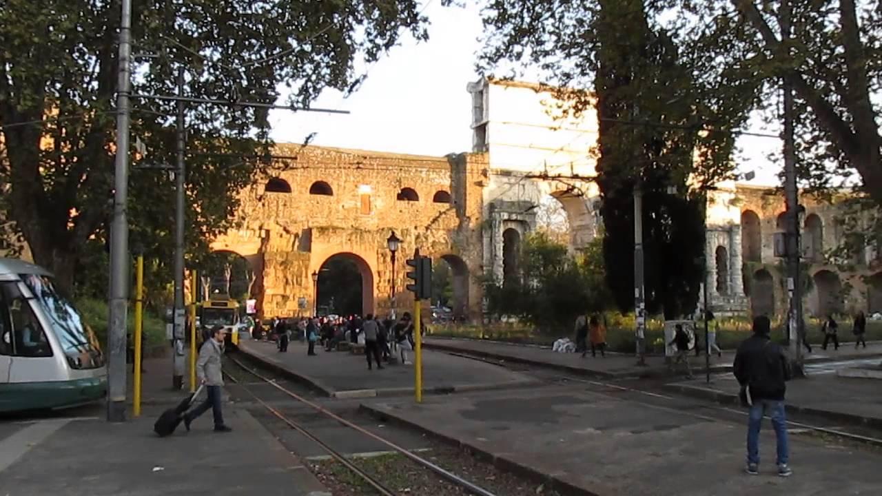 Roma Piazza Di Porta Maggiore Via Giovanni Giolitti Local Train No 834
