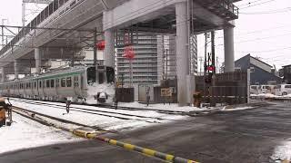 雪の仙台周辺で撮った列車集(2018年1月)
