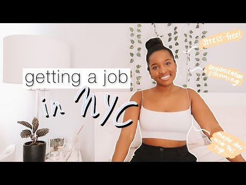 how to [really] GET A JOB IN NYC