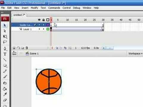 flash tutorial 5 motion guide layers youtube rh youtube com Flash CS6 Flash CS3 Professional