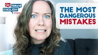 Say WHAT?! 10 Most DANGEROUS Word MISTAKES English Pronunciation Lesson (Funny)
