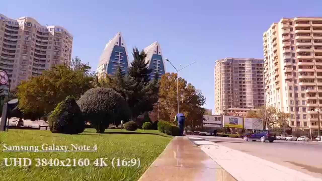 Samsung Galaxy Note 4 Video Test 4K