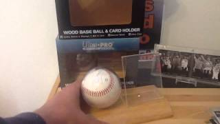 Ultrapro Baseball & Card Holder Review W/gary Brown Autograph Ball Giveaway