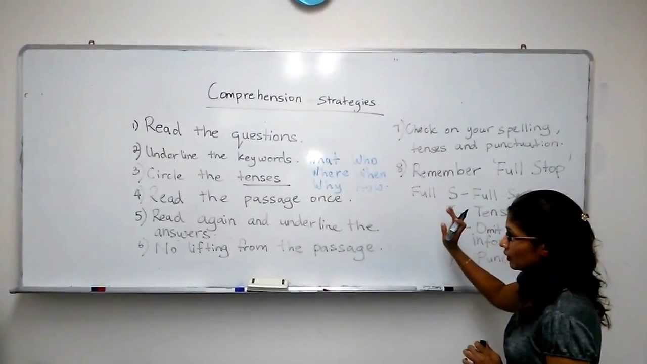 Comprehension Strategies Singapore Primary And Secondary School