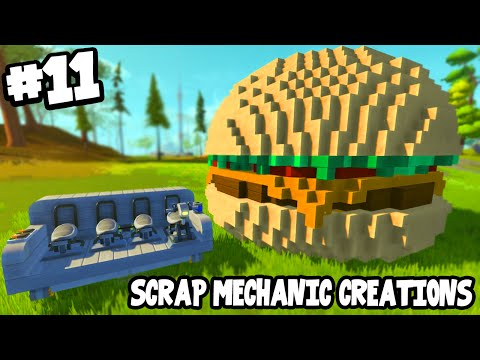 Scrap Mechanic CREATIONS! - CRAZY VEHICLES!! [#11] W/AshDubh | Gameplay |