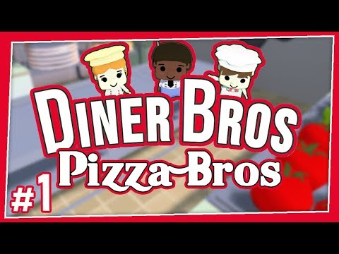 Pizza Bros - #1 - CHEESY BLASTERS! (Online Diner Bros With Parsec)