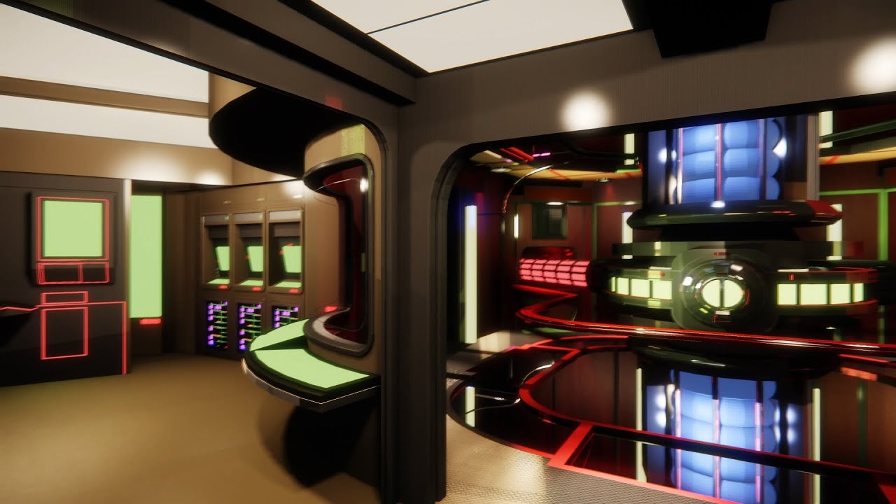 CryEngine 3 USS Enterprise Main Engineering STUNNING 4k YouTube