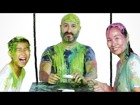 Maddox's Family Gets Slimed! | Partners in Slime | HiHo Kids