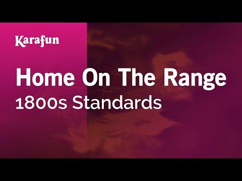 Karaoke Home On The Range - 1800s Standards *