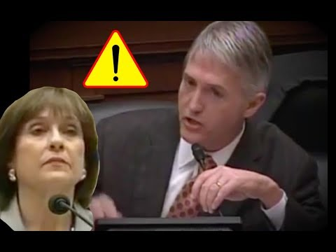 Trey Gowdy Gets Pissed Lois Lerner Refuses to Answer Questions then Audience Claps